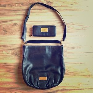 Marc By Marc Jacobs Crossbody Bag & Wallet ~ Black